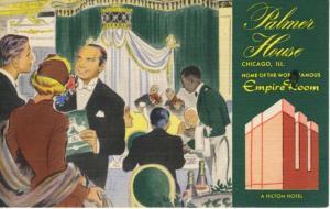 Palmer House Chicago Illinois IL Empire Room Hilton Hotel Vintage Postcard E11