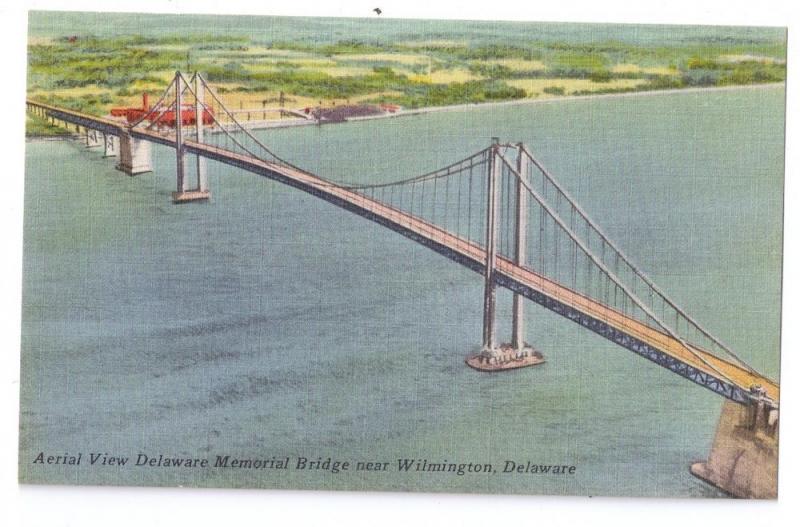 Delaware Memorial Bridge Aerial View Wilmington DE