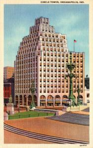 Indiana Indianapolis Circle Tower 1951 Curteich