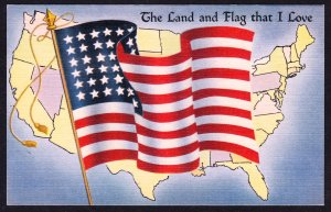 The Land and Flag That I Love – Tichnor - Flag Series No.10