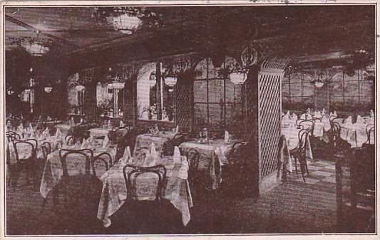 Interior Zucca's Italian Garden Restaurant New York City 1924