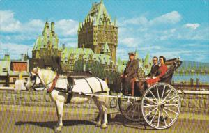 Horse And Carriage Caleche Ride in Quebec Canada