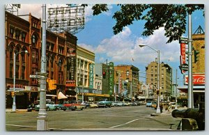 Colorado Springs~South Tejon Street~Foxes Restaurant~Ajax Furniture~1950s Cars