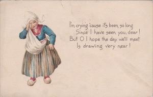Young Dutch Girl Crying 1916