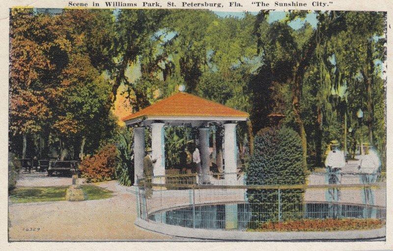 ST. PETERSBURG, Florida, PU-1927; Scene in Williams Park
