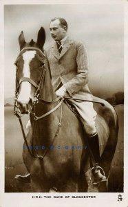 Circa-1935 Royalty RPPC: Duke of Gloucester Astride His Horse