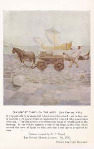 Transport Through The Ages 3rd Century Roman Ships Postcard