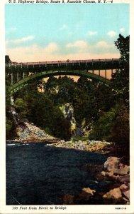 New York Ausable Chasm U S Highway Bridge Route 9 Curteich