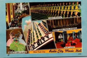 New York City Rockefeller Center Radio CIty Music Hall Interior Views