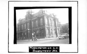 Hagerstown Maryland Washington Court House Real Photo Antique Postcard K62905