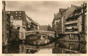 Germany - Nurnberg, Parting at the Meat Bridge