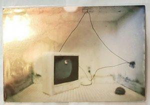 Art Postcard:CALIFORNIA La Luz de Jesus Gallery Rick Araluce 1998. TV