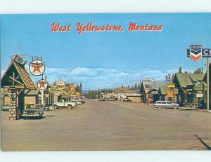 Unused Pre-1980 TEXACO & CHEVRON GAS STATIONS West Yellowstone Montana MT G4713