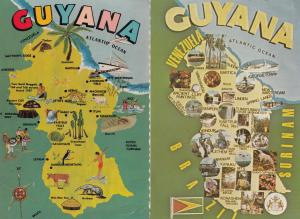 The Guyana Tragedy Jim Jones Suicide Cult 1970s Map 2x Postcard s