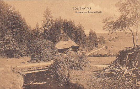 TODTMOOS, Baden-Wurttemberg, Germany, 1900-10s;  Eingang zur Rabenschlucht
