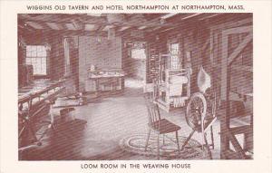 Massachusetts Northampton Wiggins Old Tavern and Hotel Northampton Loom Room ...