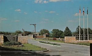 Sibley Missouri~Fort Osage Entrance~American Frontier Army Post~1950s Postcard