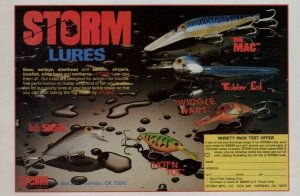 1988 Storm Lures Wiggle Wart Hot N Trot Old Fishing Lures Print Ad