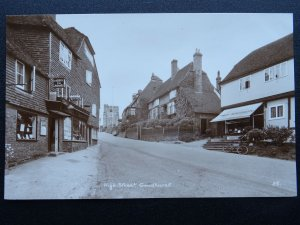 GOUDHURST High Street C. VERRALL Chemist & FRED SOUTHON Store - Old RP Postcard