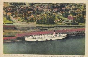 PORT ARTHUR , Ontario , Canada, 1930s ;Steamer KEEWATIN at CPR Docks