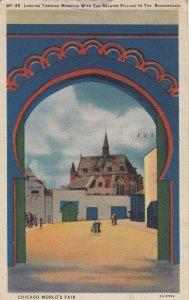 CHICAGO , Illinois , 1933 Exposition, Looking Through Morocco, Belgian Village