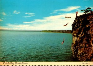 Oklahoma Lake Tenkiller Cherokee Indian Boys Cliff Diving