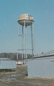 Water Tank surrounded by peanut warehouses, Plains, Georgia, 40-60s