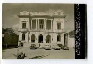 261221 CUBA St.Spiritus SOCIEDAD CARS Vintage photo PC