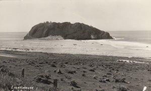 RP: SAN SIMEON highway, California, 1930-40s ; LIGHTHOUSE