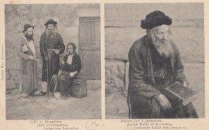 Jerusalem , Israel , 1901-07 ; Jews & Rabbi
