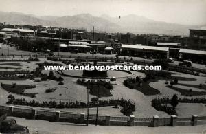iran persia, TEHRAN TEHERAN, Partial View with Park (1957) RPPC, Stamp