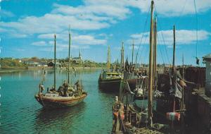 Fishing Boats Along the Grande Riviere, Gaspe, Quebec, Canada, 40-60´s