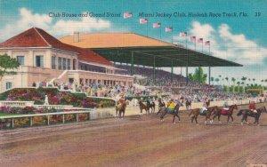Miami , Florida, 1930-40s ; Hialeah Horse Race Course, Club House & Grand Stand