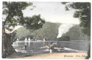 Bowness Ferry Nab PPC, 1904 PMK, Frith, Steam Powered Ferry Under Way With Cart
