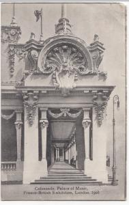 Colonnade, Palace Of Music, Franco-British Exhibition 1908 PPC, By Valentines