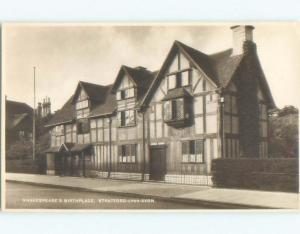 Pre-1936 rppc NICE VIEW Stratford-Upon-Avon - West Midlands England UK i3917