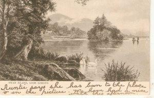 Swan Island. Loch Lomond Tuck Art Series Postcrd # 646