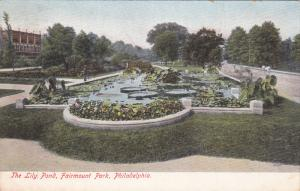 The Lily Pond, Fairmount Park, PHILADELPHIA, Pennsylvania, 1900-1910s
