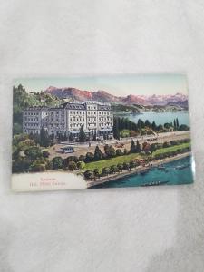 Antique Postcard entitled Lucerne, Grd. Hotel Europe.  Lucerne, Switzerland