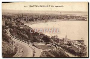 Old Postcard Sainte Adresse Overview