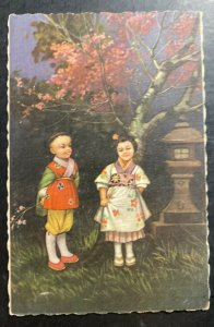 Mint Italy Color Picture Postcard China Chinese Asian Children's