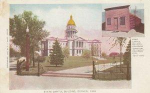 DENVER, Colorado, 1901-07; State Capitol Building & First Capitol Building