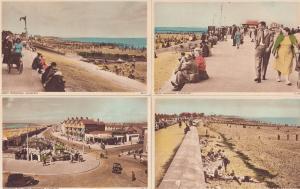 Clevelys Promenade 4x Vintage Beach Postcard s