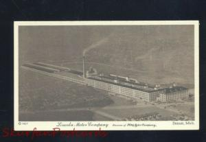 DETROIT MICHIGAN THE LINCOLN MOTOR COMPANY FACTORY ADVERTISING POSTCARD