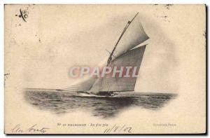 Postcard Old Boat Sailboat At Arcachon closer