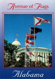 Alabama Montgomery Greetings Showing Avenue Of Flags