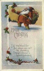 Santa Claus Christmas 1921 light wear, postal used 1921