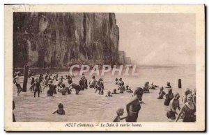 Old Postcard Ault Le Bain A Maree Haute