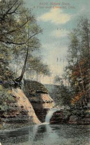 Conneaut Ohio~Nature Study~Conneaut Creek Waterfall~1912 Postcard