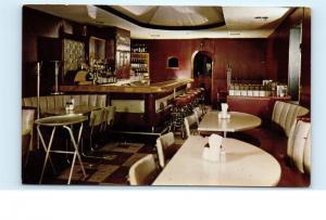 *Cocktail Lounge Bar Tony Bonnelle's Spaghetti House Belleville Ill Postcard C37